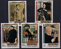 A0125 AITUTAKI 1974, SG 136-40  Birth Centenary Of Winston Churchill  MNH - Aitutaki