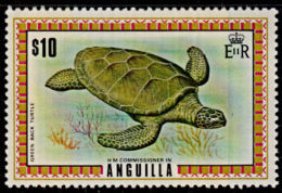 E0004 ANGUILLA 1975, SG 144a  Turtle, MNH (Top Value To Set) - Anguilla (1968-...)