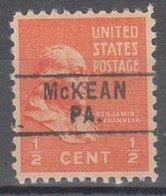 USA Precancel Vorausentwertung Preo, Locals Pennsylvania, McKean 745 - Vereinigte Staaten