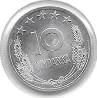 *albania  10 Qindarka 1964  Km 40  Bu - Albania