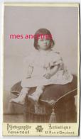 CDV En 1895-album GUISE-CLARET-Marie CLARET Ep PELOUX -photo Victor Coué à Saumur Et Chinon - Foto