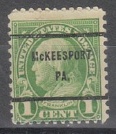 USA Precancel Vorausentwertung Preo, Bureau Pennsylvania, McKeesport 632-61 - Vereinigte Staaten