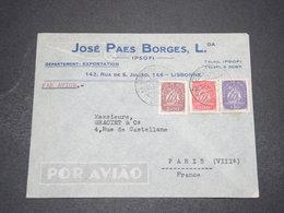 PORTUGAL  - Enveloppe Commerciale De Lisbonne Pour La France En 1948  - L 16014 - 1910-... République