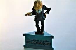 Vintage THE MUPPETSHOW : Statler On Base(birthday Wishes In French) - Scleich - 1983 - Figurines
