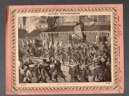 Couverture Illustrée De Cahier D'écolier :SCENES PITTORESQUES: Incendie Au Japonn (PPP8519) - Buvards, Protège-cahiers Illustrés