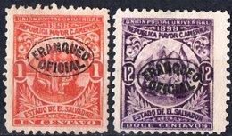 EL SALVADOR, UNIONE AMERICA CENTRALE, 1898, FRANCOBOLLI NUOVI (MLH*),  Michel D65,D70   Scott O129,O134 - El Salvador