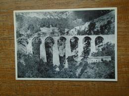 """Carte Assez Rare , 130 Ans De Chemin De Fer En Lozère , Construction Du Viaduc De La Malautière """""""" Tirage 500 Ex N° 0471 - Autres Communes"""