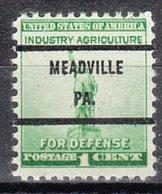 USA Precancel Vorausentwertung Preo, Bureau Pennsylvania, Meadville 899-71 - Vereinigte Staaten