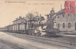 (42)   LURE - La Gare - Départ D'un Express - Lure
