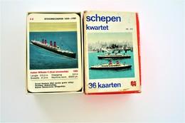 Speelkaarten - Kwartet, Schepen Kwartet, Jumbo No. 012, *** - Vintage 1960's - Cartes à Jouer Classiques