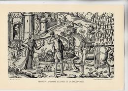 PLANCHE HISTOIRE DU PEUPLE FRANCAIS HENRI IV APPORTE LA PAIX ET LA PROSPERITE - Planches & Plans Techniques