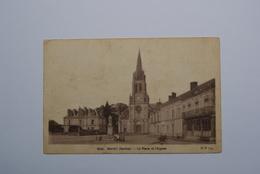 72  SARTHE   MAYET    Place De L'Eglise  (dans L'état) - France