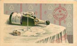 290418A - CHAMPAGNE - REIMS EUG GAROT - Coupe - Cpa Publicitaire - Champagne & Schuimwijn