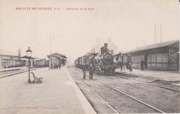 76. Breauté-Beuzeville. Intérieur De La Gare. TBE. Non écrite - Stations With Trains