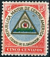 EL SALVADOR, STEMMI, COAT OF ARMS, 1897, FRANCOBOLLI NUOVI (MLH*),  Michel 173   Scott 176 - El Salvador