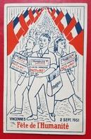 Vincennes- Fête De L'Humanité 2 Septembre 1951. - Vincennes