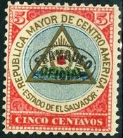 EL SALVADOR, STEMMI, COAT OF ARMS, 1900, FRANCOBOLLI NUOVI (MLH*),  Michel D90a   Scott O76 - El Salvador