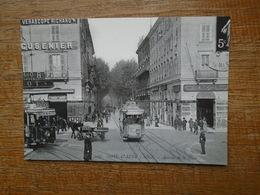 Repro , Nice , Avenue De La Gare Au Début Du 20 Eme Siècle - Transport Ferroviaire - Gare