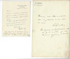 EMILE DE GIRARDIN (1802 - 1881) 2 LAS AUTOGRAPHE ORIGINAL AUTOGRAPH JOURNALISTE /FREE SHIPPING REGISTERED - Autographes