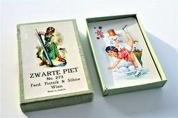 Speelkaarten - Kwartet, Zwarte Piet, Ferd. Piatnik & Söhne Wien No. 273, *** - Vintage 1950's - Speelkaarten