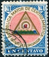 EL SALVADOR, STEMMI, COAT OF ARMS, 1897, FRANCOBOLLI USATI,  Michel 172   Scott 175 - El Salvador