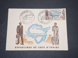CÔTE D'IVOIRE - Carte Maximum En 1962 , Air Afrique - L 16036 - Côte D'Ivoire (1960-...)