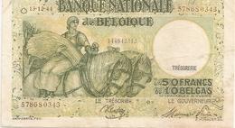 50 Fr - 13-12-44 - [ 2] 1831-... : Royaume De Belgique