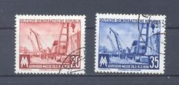 1956 DDR  Mi-518-519  25. Februar Leipziger Frühjahrsmesse  Gestempelt - [6] Democratic Republic