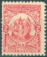 EL SALVADOR, UNIONE AMERICA CENTRALE, 1898, FRANCOBOLLI NUOVI (MLH*),  Michel 174 I   Scott 177 - El Salvador