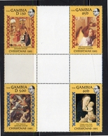 Gambia Gutter Block Of Four MNH 1985 Christmas (208) - Gambie (1965-...)