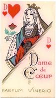 Parfum Kaartje - Parfum Vinero - Dame De Coeur - Etiquettes