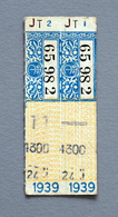 Tickets Papier DesTramways TCRP Paris 1939 Coll Schnabel - Tramways