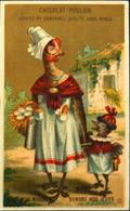 Chromo & Image - Chromo. Dorée - CHOCOLAT POULAIN - Souvenir De La Maison POULAIN - Mére Poule Et Son Bébé - En TB. Etat - Poulain