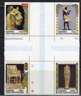 Discovery Of Tutankhamun Gutter Block MNH (ca258) - Centrafricaine (République)