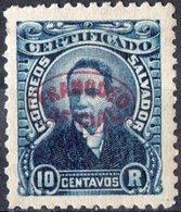 EL SALVADOR, COMMEMORATIVO, GUTIERREZ, 1897, FRANCOBOLLI NUOVI (MLH*),  Michel D63   Scott O127 - El Salvador