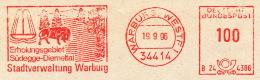 Freistempel 0708 Warburg Brunnen Bison (?) - [7] Federal Republic
