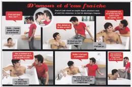 CPM GAY HOMME A MOITIE NU HOMOSEXUALITE HOMO ROMAN FEUILLETON D AMOUR ET D EAU FRAICHE - Salud