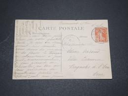 FRANCE - Type Semeuse Croix Rouge Sur Carte Postale De Beaumont Sur Oise - L 16062 - 1877-1920: Période Semi Moderne