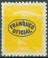 EL SALVADOR, PAESAGGI, LANDSCAPES, ATEHAUSILLA WATERFALL, UPU, 1897, FRANCOBOLLI NUOVI (MLH*),  Michel D58    Scott O87 - El Salvador