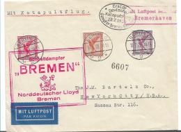 W-L015 / Erster Katapultflug 22.7.1929 Sowie Schnelldampfer Bremen - Briefe U. Dokumente