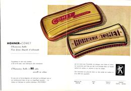 1 Brochure Mond Harmonika  Harmonica Hohner   Comet   Made In Germany - Publicités