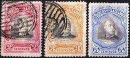 EL SALVADOR, COMMEMORATIVO, PRESIDENT ESCALON, 1907, FRANCOBOLLI USATI,  Scott O264-O266 - El Salvador