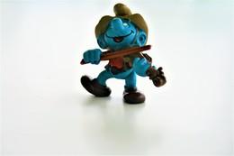 Smurfs Nr 20153#2 - *** - Stroumph - Smurf - Schleich - Peyo - Cowboy - Violin - Schtroumpfs