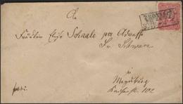 Adler 10 Pfennig EF Bf. Droyssig über Zeitz 30.11.1882 - Briefmarken