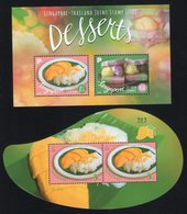 Thailand - Singapore Joint Issue 2015 / Souvenir Sheet / 50th Anniversary Of Diplomatic Relations / Dessert - Joint Issues