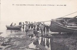 14 LUC Sur MER Vue Animée ENFANTS Devant Un BATEAU De PECHE à L' Echouage N° C 669 - Luc Sur Mer