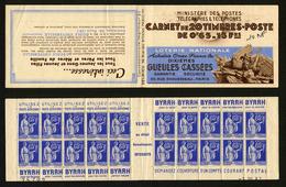 FRANCE - CARNET 365-C9 - 20 TIMBRES ** TYPE PAIX 65c BLEU - Carnets