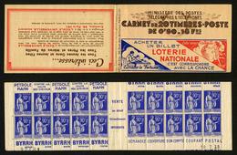 FRANCE - CARNET 368-C3 - 20 TIMBRES **/* TYPE PAIX 90c BLEU - Uso Corrente