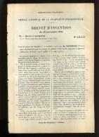 - MARINE ET NAVIGATION . VIDANGE DES GABARES . BREVET D'INVENTION DE 1902 . - Technique Nautique & Instruments