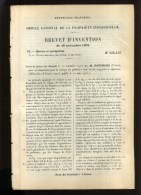- MARINE ET NAVIGATION . VIDANGE DES GABARES . BREVET D'INVENTION DE 1902 . - Techniek & Instrumenten